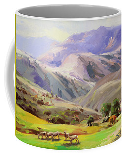 Grazing In The Salmon River Mountains Coffee Mug