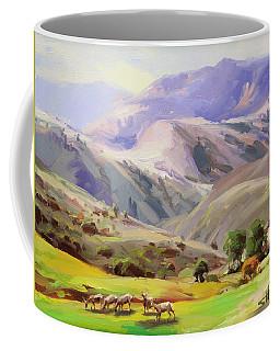 Grazing In The Salmon River Mountains Coffee Mug