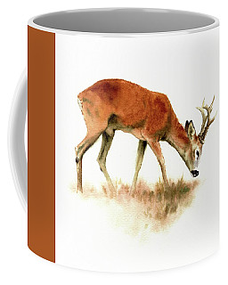 Grazing Roebuck Watercolor Coffee Mug