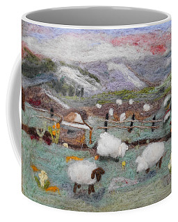 Grazing Woolies Coffee Mug by Christine Lathrop