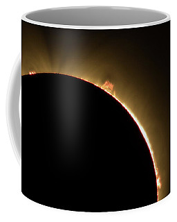Great American Eclipse 16x9 Prominence As Seen In Albany, Oregon. Coffee Mug
