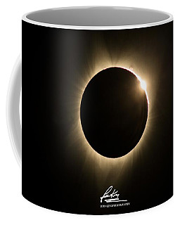 Great American Eclipse 16x9 Totality Square As Seen In Albany, Oregon Signature Edition. Coffee Mug