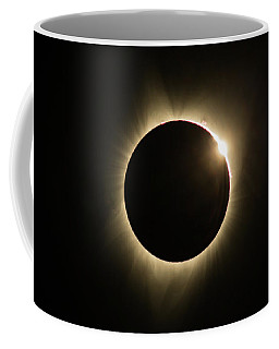 Great American Eclipse Diamond Ring16x9 Totality Square As Seen In Albany, Oregon. Coffee Mug