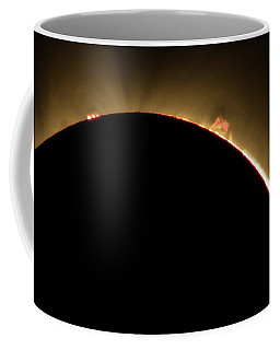 Coffee Mug featuring the photograph Great American Eclipse Prominence 5x7 As Seen In Albany, Oregon. by John King