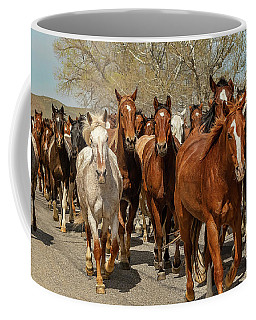 Coffee Mug featuring the photograph Great American Horse Drive by Brenda Jacobs
