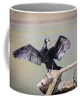 Great Black Cormorant Drying Wings After Fishing Coffee Mug