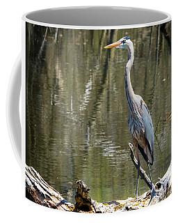 Great Blue Heron At Johnson Park Coffee Mug