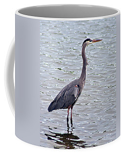 Coffee Mug featuring the photograph Great Blue Heron by Bill Barber