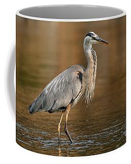 Great Blue Heron Fall Colors Coffee Mug