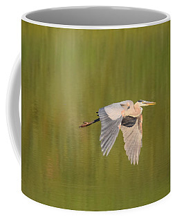 Coffee Mug featuring the photograph Geat Blue Heron Burgess Res Divide Co by Margarethe Binkley