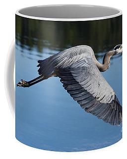 Great Blue Heron In Motion Coffee Mug