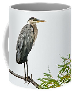 Great Blue Heron In The Rain Coffee Mug