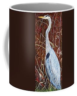 Great Blue Heron Coffee Mug by Marilyn  McNish