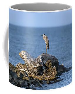 Great Blue Heron On Chesapeake Bay Coffee Mug