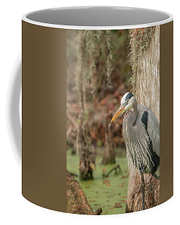 Great Blue Heron On Guard Coffee Mug