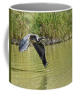 Great Blue Heron On The Wing Coffee Mug