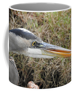 Coffee Mug featuring the photograph Great Blue Heron Portrait by Ella Kaye Dickey