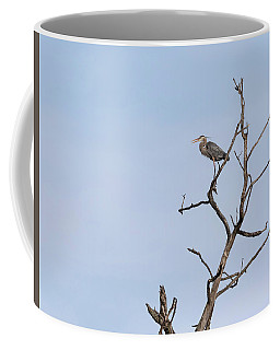 Coffee Mug featuring the photograph Great Blue Heron Presentation 2017-1  by Thomas Young
