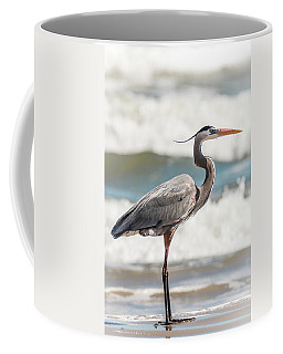 Great Blue Heron Profile Coffee Mug