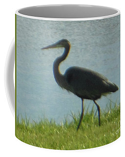 Coffee Mug featuring the photograph Great Blue Heron by Rockin Docks Deluxephotos