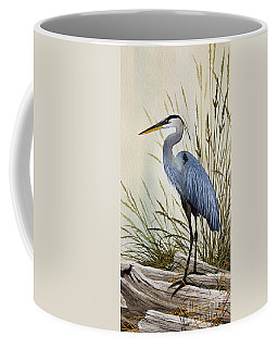 Great Blue Heron Shore Coffee Mug