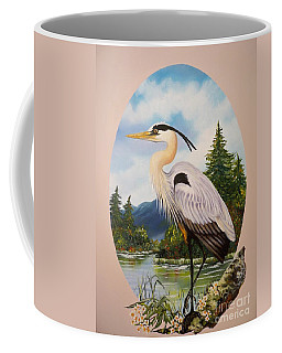 Flying Lamb Productions                 Great Blue Heron Coffee Mug
