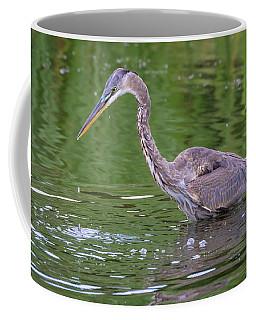 Great Blue Heron - The One That Got Away Coffee Mug