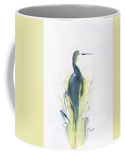 Blue Heron Turning Coffee Mug