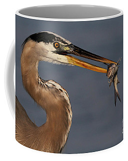 Great Blue Heron W/catfish Coffee Mug