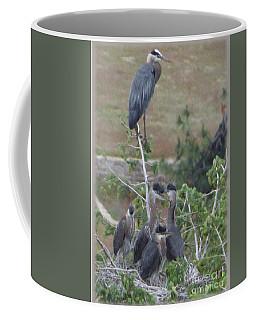 Great Blue Heron Watching Over Nest Coffee Mug