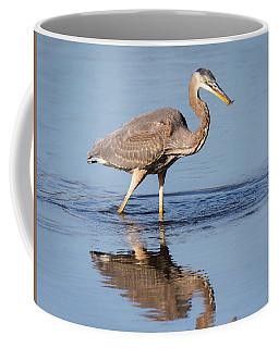 Great Blue Heron With A Small Meal Coffee Mug