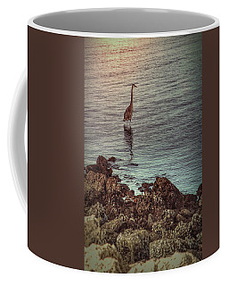 Great Blue Hunting At Dusk Coffee Mug