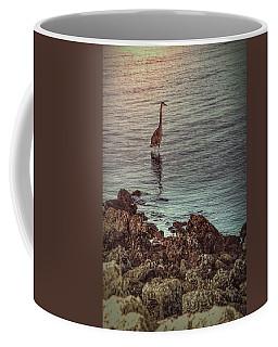 Great Blue Hunting At Dusk Coffee Mug