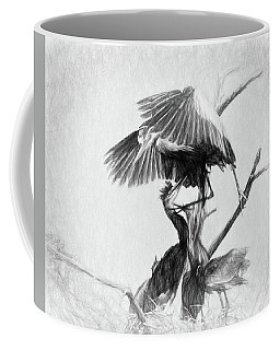 Great Blues II Sketch Coffee Mug