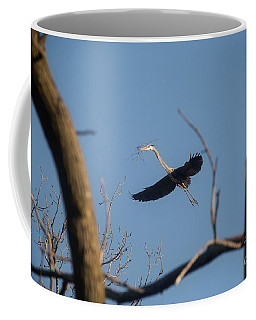 Coffee Mug featuring the photograph Great Blues Nesting by David Bearden
