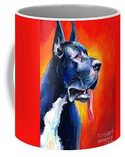 Great Dane Dog Portrait Coffee Mug