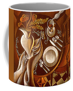 Coffee Mug featuring the painting Great Dining by Leon Zernitsky