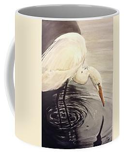 Great Egret , Mirror Coffee Mug