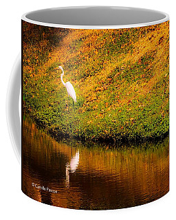 Great Egret At The Lake Coffee Mug