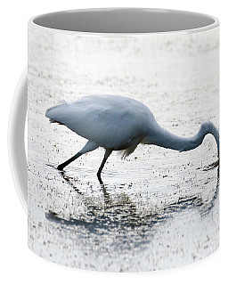 Great Egret Faceplant Coffee Mug