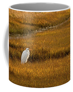 Great Egret In Morning Light Coffee Mug