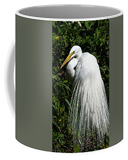 Great Egret Portrait Two Coffee Mug
