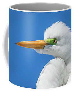 Great Egret Profile Coffee Mug
