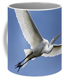 Great Egret Soaring Coffee Mug