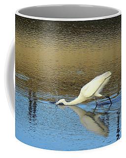 Great Egret - The Strike Coffee Mug by Scott Cameron