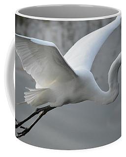 Great Egret With Fish Coffee Mug