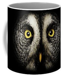 Great Grey Owl Up Close Coffee Mug