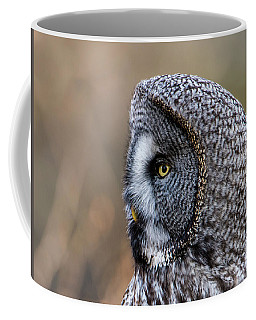 Great Grey's Profile A Closeup Coffee Mug