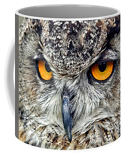 Great Horned Owl Closeup Coffee Mug