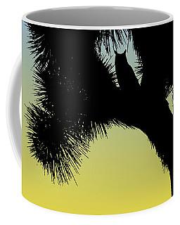 Great Horned Owl In A Joshua Tree Silhouette At Sunrise Coffee Mug